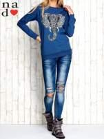 Ciemnoniebieska bluza z nadrukiem słonia