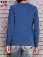 Ciemnoniebieska bluza z napisem ZŁOŚNICA                                  zdj.                                  4
