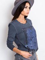 Ciemnoniebieska bluzka West                                  zdj.                                  3