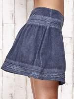Khaki spódnica z efektem dekatyzowania                                                                          zdj.                                                                         7