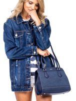 Ciemnoniebieska torba z ozdobnymi ćwiekami                                  zdj.                                  1