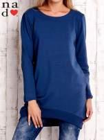 Ciemnoniebieska tunika z kieszeniami