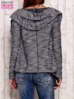 Ciemnoniebieski melanżowy sweter z kapturem                                  zdj.                                  2