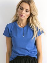 Ciemnoniebieski t-shirt Peachy                                  zdj.                                  1