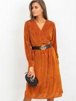 Ciemnopomarańczowa sukienka Attractive                                  zdj.                                  1
