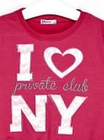Ciemnoróżowy komplet dla dziewczynki bluza i spodnie                                  zdj.                                  5