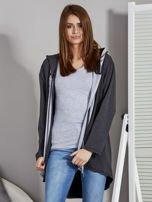 Ciemnoszara bluza z kontrastowym suwakiem                                   zdj.                                  7