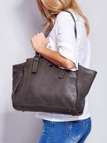 Ciemnoszara miękka torba w miejskim stylu                                  zdj.                                  4