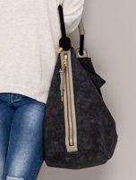 Ciemnoszara torba z bocznymi suwakami                                  zdj.                                  2