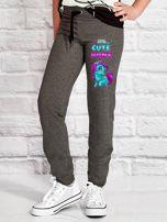 Ciemnoszare spodnie dresowe dla dziewczynki LITTLE CUTE PONY                                  zdj.                                  1