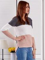 Ciemnoszary sweter z perełkami                                  zdj.                                  5
