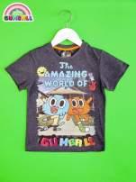 Ciemnoszary t-shirt chłopięcy GUMBALL                                  zdj.                                  1
