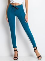 Ciemnoturkusowe spodnie dresowe Defined                                  zdj.                                  1