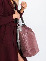 Ciemnowiśniowa torba na ramię                                  zdj.                                  3