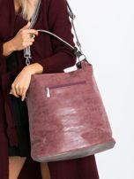 Ciemnowiśniowa torba na ramię                                  zdj.                                  2