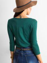 Ciemnozielona bluzka Mona                                  zdj.                                  2