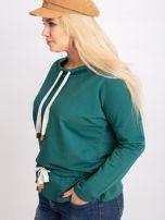 Ciemnozielona bluzka plus size Khloe                                  zdj.                                  3