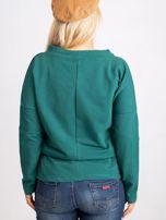 Ciemnozielona bluzka plus size Khloe                                  zdj.                                  2