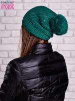 Ciemnozielona czapka z dużym pomponem                                  zdj.                                  3