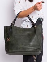 Ciemnozielona torba shopper                                  zdj.                                  2