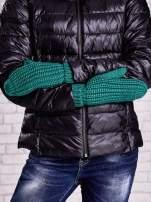 Ciemnozielone proste rękawiczki na jeden palec z grubej wełny                                  zdj.                                  3