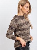 Ciemny khaki sweter Amelia                                  zdj.                                  3