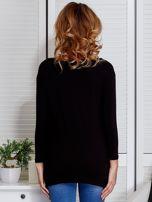 Czarna asymetryczna bluzka z babeczką                                  zdj.                                  2