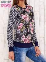 Czarna bluza motyw kwiatowy                                  zdj.                                  3