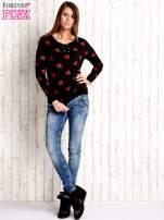 Czarna bluza w arbuzy z wiązaniem                                  zdj.                                  4