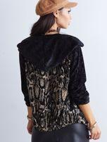 Czarna bluza we wzory                                  zdj.                                  2