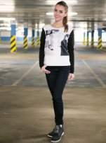 Czarna bluza z fotografią w stylu fashion                                  zdj.                                  9