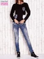 Czarna bluza z kocimi motywami                                  zdj.                                  4