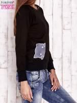 Czarna bluza z kocimi motywami                                  zdj.                                  3