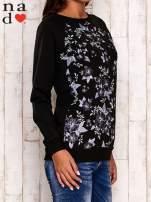 Czarna bluza z kwiatowym nadrukiem                                                                          zdj.                                                                         3