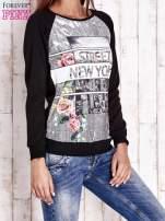 Czarna bluza z miejskim nadrukiem                                  zdj.                                  3