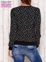 Czarna bluza z nadrukiem kotów                                  zdj.                                  2