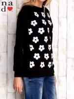 Czarna bluza z nadrukiem kwiatów                                                                          zdj.                                                                         4