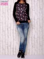 Czarna bluza z nadrukiem pand                                  zdj.                                  2