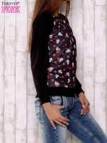 Czarna bluza z nadrukiem pand                                                                          zdj.                                                                         3