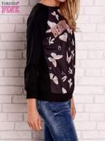 Czarna bluza z napisem BEAUTIFUL PELITER i motywem motyli                                  zdj.                                  2