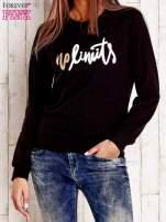 Czarna bluza z napisem NO LIMITS