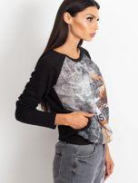 Czarna bluza z tanecznym nadrukiem                                  zdj.                                  3