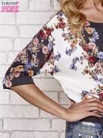 Czarna bluzka koszulowa w kwiaty                                  zdj.                                  4