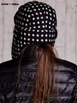 Czarna czapka uszatka w grochy FUNK N SOUL