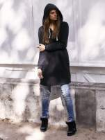 Czarna długa bluza oversize                                                                          zdj.                                                                         7