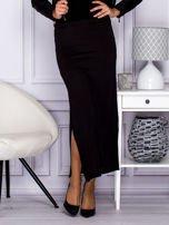 Czarna długa spódnica maxi w transparentne paski                                                                          zdj.                                                                         6
