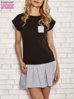 Czarna dresowa sukienka tenisowa z kieszonką                                  zdj.                                  1
