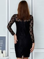Czarna elegancka koronkowa sukienka                                  zdj.                                  2