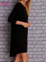Czarna gładka sukienka oversize                                  zdj.                                  3