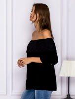 Czarna hiszpanka z ażurową falbaną przy dekolcie                                  zdj.                                  5